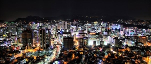 View_from_N_Seoul_Tower_at_night
